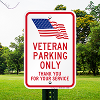 Veteran Parking Only Signs