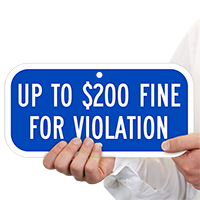 Up To $200 Fine For Violation ADA Signs