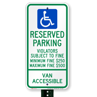 Ohio Reserved Parking, Van Accessible Signs