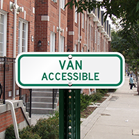 Van Accessible (Virginia) Aluminum ADA Handicapped Sign