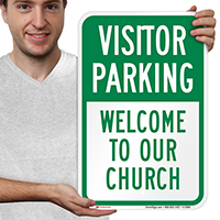 Visitor Parking,Welcome to our church Signs