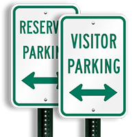 Visitor Parking Signs (arrow pointing left and right)