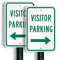 Visitor Parking Sign (arrow pointing right)