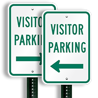 Visitor Parking Signs (arrow pointing left)