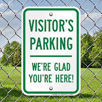 Visitor's Parking Sign