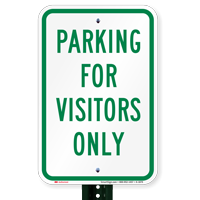 Parking Visitors Only Signs