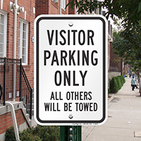 Visitor Parking Tow Away Sign