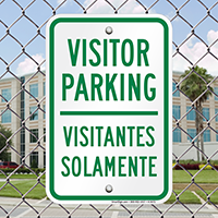 Bilingual Visitor Parking Sign