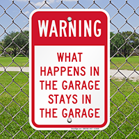 Garage,Warning Sign