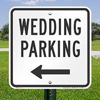 Wedding Parking Left Arrow Sign