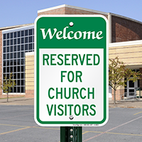 Welcome Church Visitors Signs
