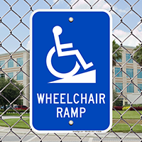 Wheelchair Ramp Signs (with Graphic)