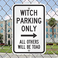 Witch Parking Only With Right Arrow Signs