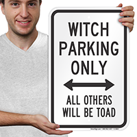 Witch Parking Only With Bidirectional Arrow Signs