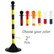 2 in. Pole Stanchions, Light Duty