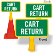 Cart Return ConeBoss Sign
