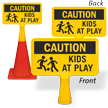 Caution Kids At Play ConeBoss Sign