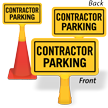 Contractor Parking ConeBoss Sign
