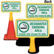 Designated Smoking Area ConeBoss Sign
