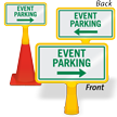 Event Parking Arrow ConeBoss Sign