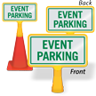 Event Parking ConeBoss Sign