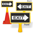 Exit Arrow ConeBoss Sign