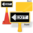 Exit Left Arrow ConeBoss Sign