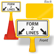 Form 2 Lines ConeBoss Sign