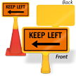 Keep Left Arrow ConeBoss Sign