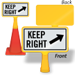 Keep Right ConeBoss Sign