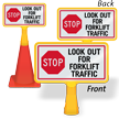 Look Out For Forklift Traffic ConeBoss Sign