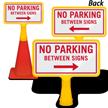 No Parking Between Signs ConeBoss Sign