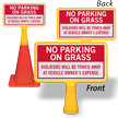 No Parking On Grass ConeBoss Sign