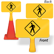 Pedestrian Crossing ConeBoss Sign