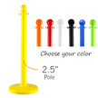 2.5 in. Pole Stanchions, Standard Duty