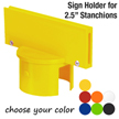 "Sign Holder for 2.5"" Stanchions"