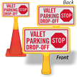 Stop Valet Parking Drop Off ConeBoss Sign