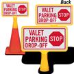Stop Valet Parking Drop Off ConeBoss Sign