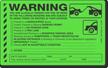 Illegally Parked Reason Sticker