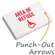 Area Of Refuge Exit Sign with Battery Backup