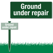 Ground Under Repair Easystake Sign