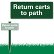 Return Carts To Path Easystake Sign