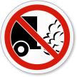 No Idling Symbol ISO Prohibition Circular Sign