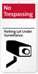 No Trespassing iParking Sign