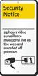 Under 24 Hour Video Surveillance iParking Sign