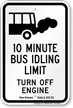 State Idle Sign for Louisiana, 10 Minute Limit
