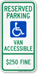 Illinois ADA Handicapped Parking Sign