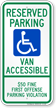 Alabama Reserved ADA Parking, Van Accessible Sign