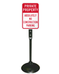 Absolutely No Construction Parking Sign Post Kit