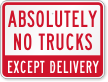Truck and Delivery Sign